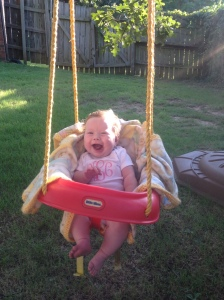 Annie is living it up in the swing!